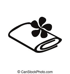 towel - simple flat black towel icon vector
