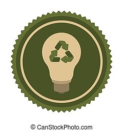 green eco bulb icon