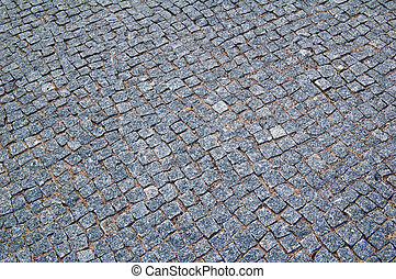 Cobblestone road - Granite cobblestone road. A background