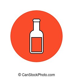 potion - simple flat colour potion icon vector
