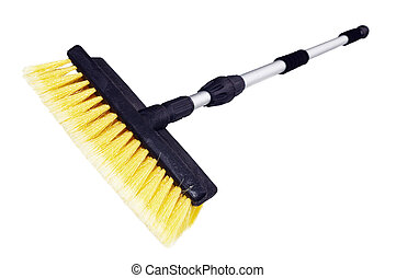 Brush for washing with the long handle