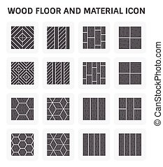 Wood Floor Icon - Wood floor pattern and material vector...
