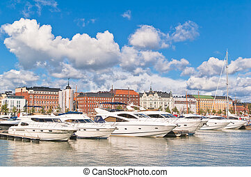Helsinki Boats and yachts at a mooring