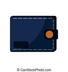 wallet accessory icon over white background. colorful...