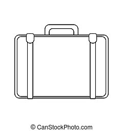 travel suitcase icon over white background. vector...