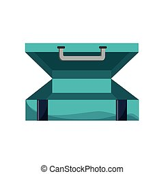 travel briefcase icon over white background. colorful...