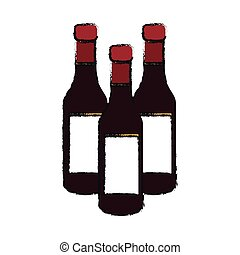 wine bottles icon