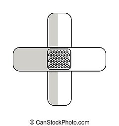 ban aid icon - ban aids icon over white background. vector...