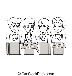 medical professional people design