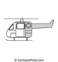 helicopter ambulance icon