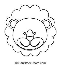 figure face lion icon