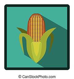 corn cob icon image, vector illustration design stock