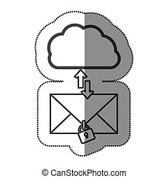 cloud hosting center downloading and uploading messages...