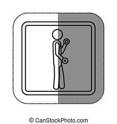 figure person lifting dumbbells icon