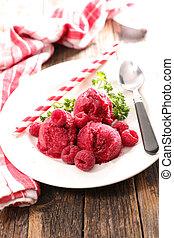 raspberry ice cream