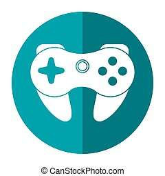 gamepad control console shadow vector illustration eps 10