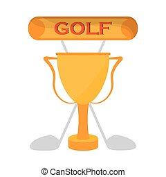 golf golden trophy clubs emblem