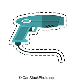 cartoon weapon virtual reality game vector illustration eps...
