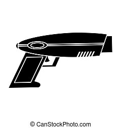 weapon virtual reality game pictogram vector illustration...