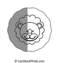 contour face lion icon