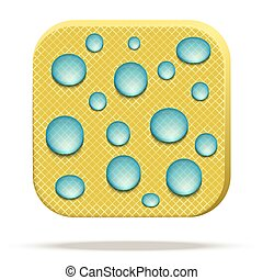 Icon of waterproof fabric. - Icons of waterproof material....