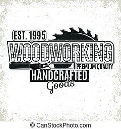vinatge woodworking logo - Vintage woodworking logo design,...