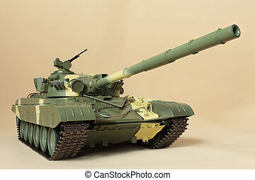 Huge firepower cannon Soviet tank T-72 - Huge firepower...