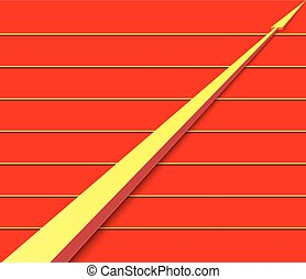 smooth yellow arrow on a red background yellow stripes -...