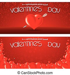 Valentines Day Banners Template Vector