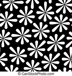 Seamless from flower - Black and white seamless from...
