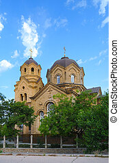 Orthodox Church - Saint Elijah Church in Eupatoria Crimea,...