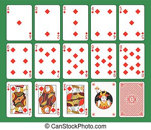Playing Cards Diamonds Suit