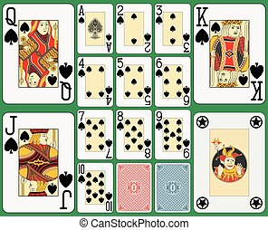 Blackjack Playing Cards Spades Suit - Playing cards spades...