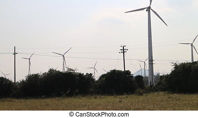 Energy alternatives 1. Wind farm in Indian province of...