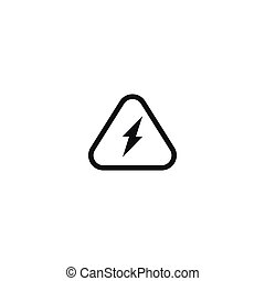 Attention electricity isolated symbol on white
