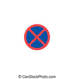 No stopping and parking roadsign isolated