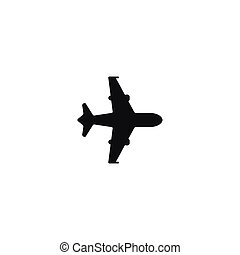 Air shipping symbol on white background - Air shipping...