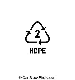 Plastic recycling symbol isolated on white
