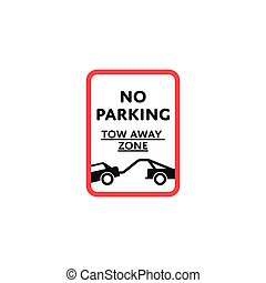 No parking zone roadsign isolated