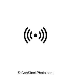 Non-ionizing radiation symbol on white background