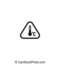 Attention temperature regime symbol isolated on white...