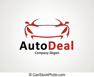 Auto car dealership logo design with concept sports vehicle...