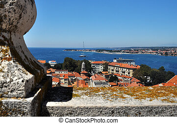 Zadar - historic town Zadar in Croatia, photo taken from a...