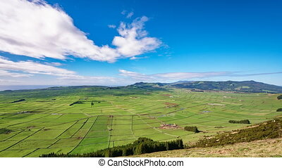 Agriculture in Terceira panoramic time lapse, Azores in 4K -...