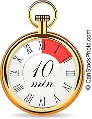 mechanical watch timer 10 minutes vector illustration...