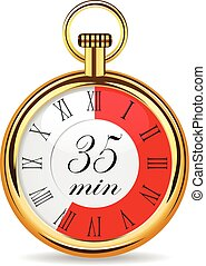 mechanical watch timer 35 minutes vector illustration...