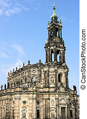 Dresden - Hofkirche or Cathedral of Holy Trinity - baroque...