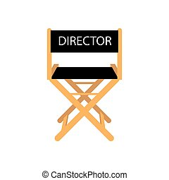 Movie director chair on the white background. Vector...