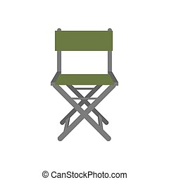 Fishing chair illustration on the white background. Vector...