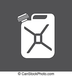 Canister of gasoline icon